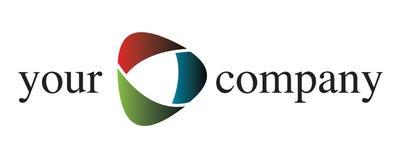 Um logotipo da companhia Fotos de Stock
