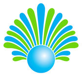 Um logotipo da companhia Fotografia de Stock