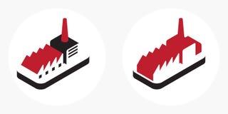 Logotipo industrial Imagens de Stock Royalty Free