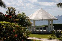 Um lugar agradável a apreciar do mar em Isla Mujeres fotos de stock royalty free