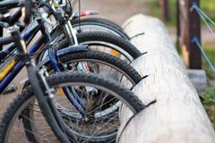 Um lugar de estacionamento para bicicletas Imagem de Stock Royalty Free