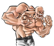 Um lutador Imagens de Stock