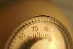 Um módulo de controle home do termostato foto de stock