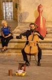 Um músico da rua em Florença fotos de stock royalty free