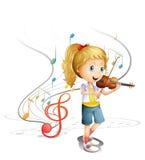 Um músico novo ilustração royalty free