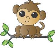 Um macaco pequeno doce que senta-se em um ramo imagens de stock
