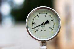 Um manômetro da água imagem de stock