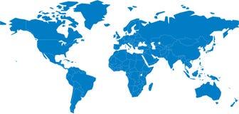 Um mapa do mundo Imagens de Stock