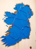 Um mapa oxidado de Ireland! Fotografia de Stock Royalty Free
