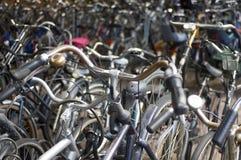 Um mar das bicicletas Foto de Stock Royalty Free