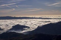 Um mar das nuvens Foto de Stock