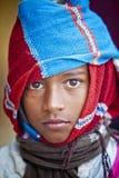 Um marrom eyes o menino Fotografia de Stock