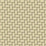 Um materia de vime tecido amarelo Foto de Stock Royalty Free
