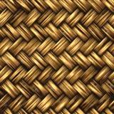 Um material de vime tecido Imagens de Stock