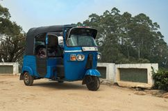 Um meio de transporte chamado o TUK TUK Foto de Stock Royalty Free