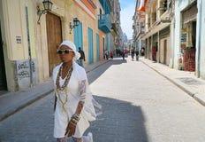 Um meio-dia quente em Havana Fotos de Stock