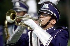 Um membro da banda de High School imagem de stock royalty free