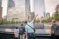 Um memorial do World Trade Center Fotos de Stock Royalty Free