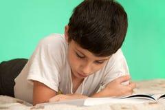 Um menino da leitura Foto de Stock Royalty Free