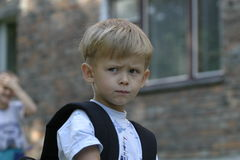 Um menino da virada Fotos de Stock