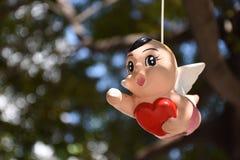 Um menino do anjo Fotos de Stock