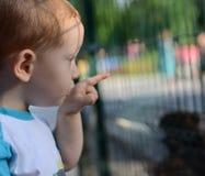 Um menino louro Fotos de Stock Royalty Free