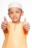 Menino muçulmano bonito Fotos de Stock Royalty Free