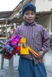 Um menino peruano em Ollantaytambo no Peru Fotografia de Stock