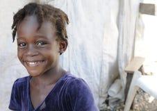 Um miúdo haitiano. fotografia de stock royalty free