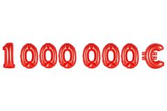 Um milhão de euro, cor vermelha Imagens de Stock Royalty Free