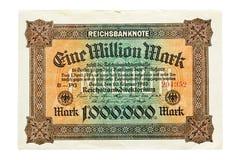 Um milhão de marcas 1923 Foto de Stock