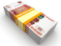 Um milhão de rublos de russo Imagem de Stock