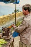 Um milho indiano da repreensão do vendedor ambulante imagem de stock royalty free