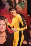 Um modelo de cera de Bruce Lee na exposição em Victoria Peak fotos de stock royalty free