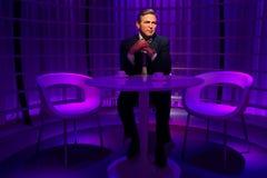 Um modelo de cera de George Clooney no museu da cera da senhora Tussauds imagens de stock royalty free