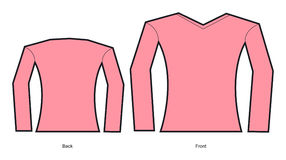 Um modelo de um projeto do t-shirt da mulher Fotos de Stock