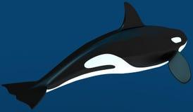 Um modelo de uma baleia de assassino estilizado ilustração 3D Imagem de Stock
