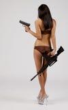 Biquini com armas Imagem de Stock Royalty Free
