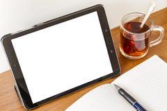 Um modelo para escrever em uma tabuleta imagem de stock royalty free