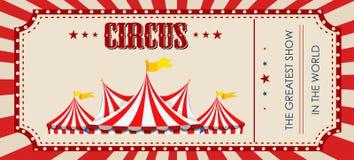 Um molde do bilhete do circo fotos de stock royalty free