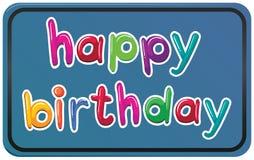 Um molde do feliz aniversario Imagens de Stock