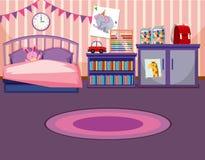 Um molde do quarto da menina ilustração royalty free