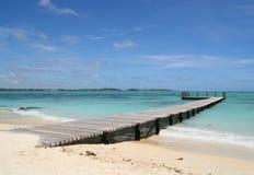 Um molhe ao longo da praia de Maurícia Fotos de Stock