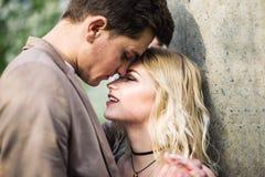 Um momento antes do beijo Fotografia de Stock