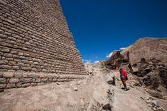 Um monastério pequeno perto da cidade de Leh Imagem de Stock Royalty Free