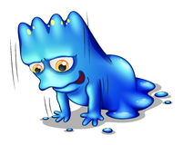 Um monstro azul que exercita apenas Fotos de Stock Royalty Free