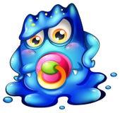 Um monstro do bebê azul Foto de Stock Royalty Free