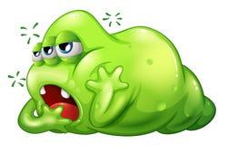 Um monstro do greenslime no enfado Imagem de Stock