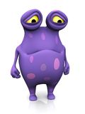 Um monstro manchado que olha triste. ilustração stock