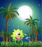 Um monstro que molha as plantas perto das palmeiras Imagem de Stock